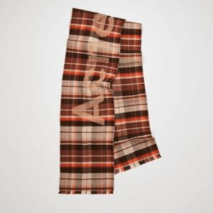Acne Studios Victoria Scarf - Brown and Or…